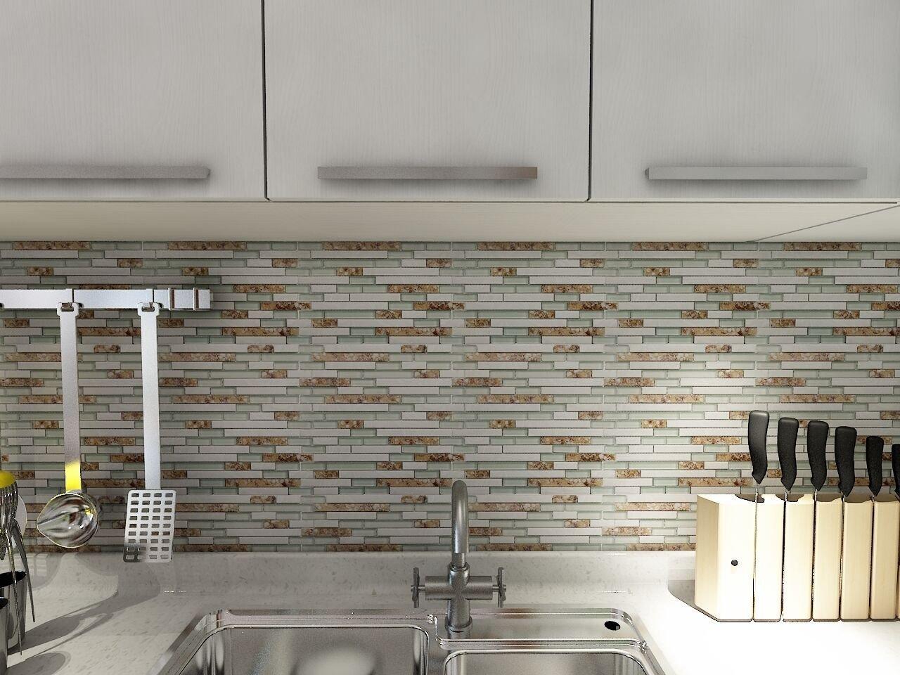 Glass Backsplash Tiles Installation Video