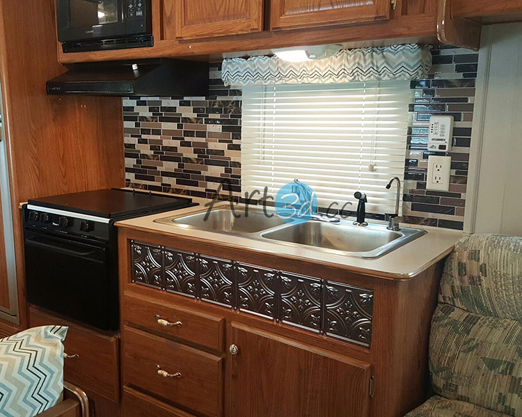 Vinyl Self-Adhesive Backsplash Tiles for Kitchen, 12\