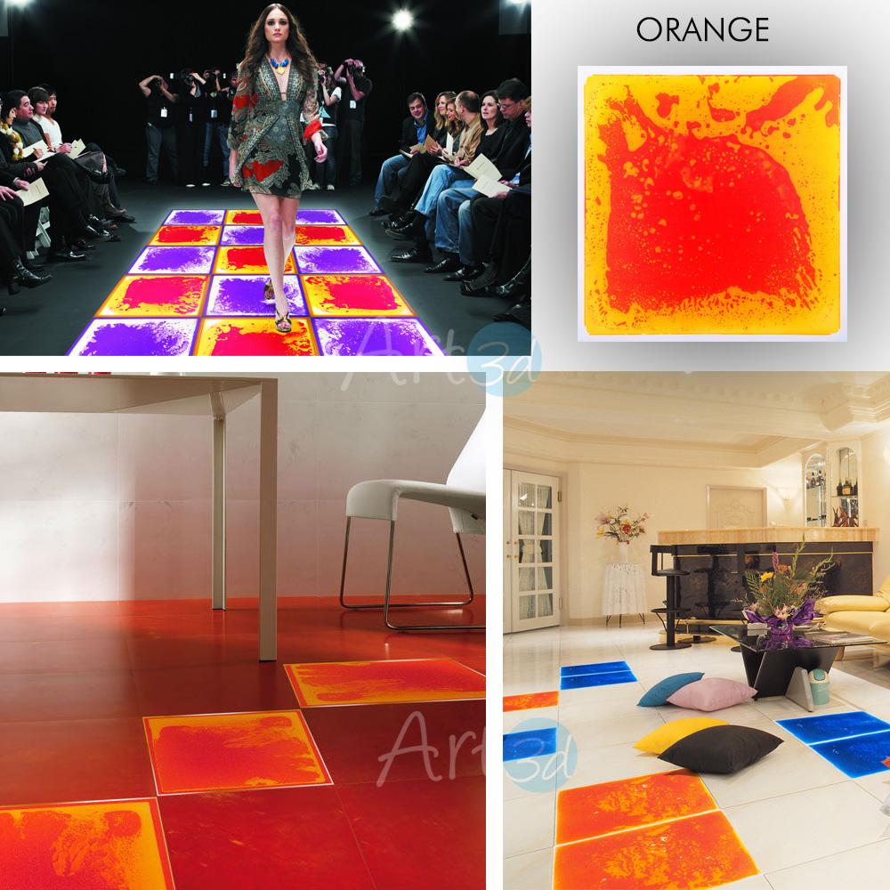 Liquid Floor Tile Orange