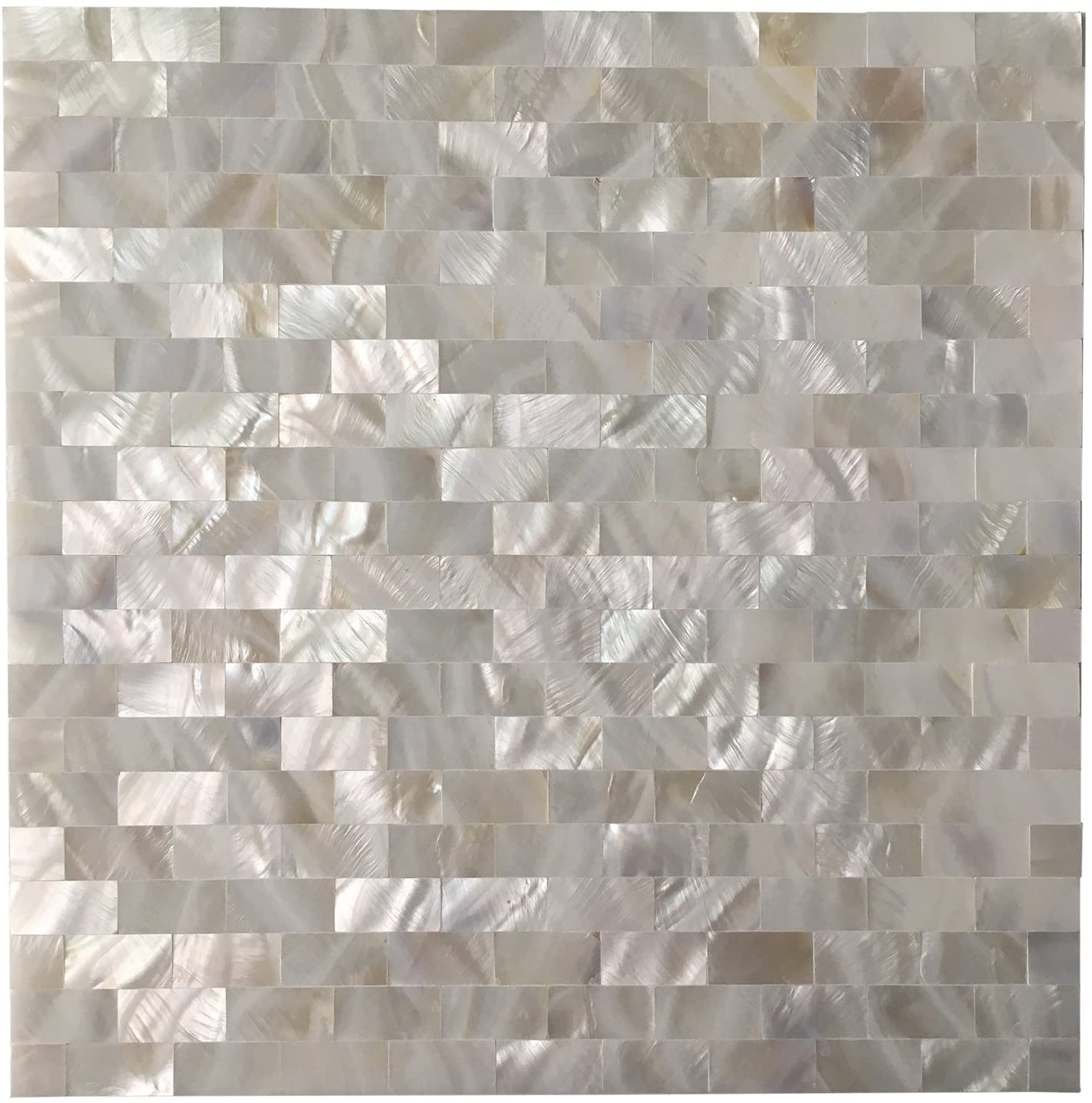A18202 - 6-Pack Mother of Pearl Shell Tile for Kitchen Backsplashes / Shower Wall, 12