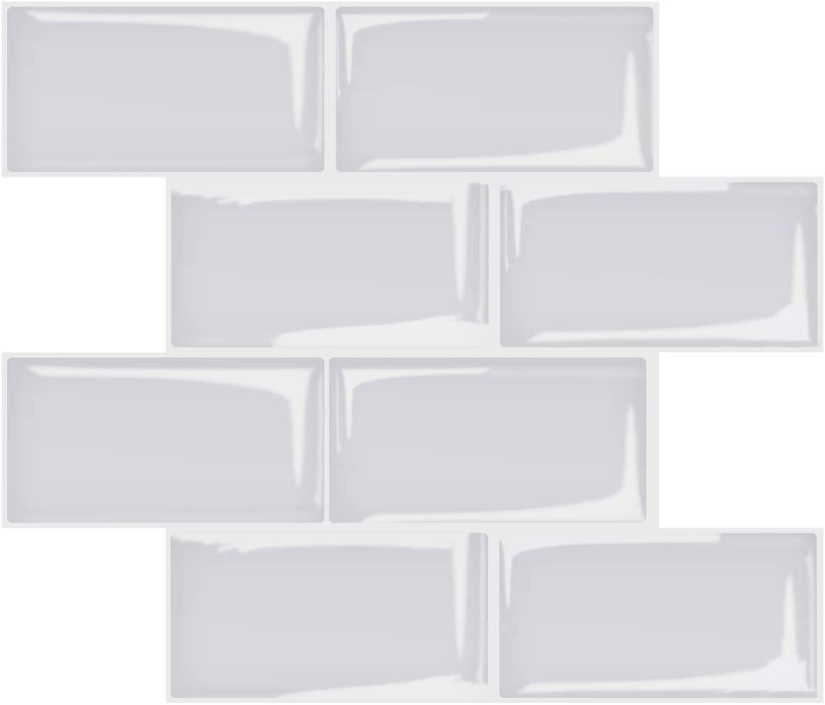 A17724-Art3d Subway Tiles Peel and Stick Backsplash, Stick on Tiles Kitchen Backsplash (10 Tiles, Thicker Version)