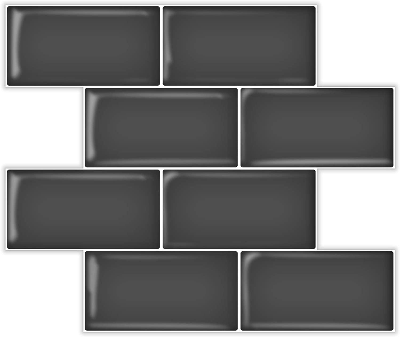 A17726-Art3d Subway Tiles Peel and Stick Backsplash, Stick on Tiles Kitchen Backsplash (10 Tiles, Thicker Version)