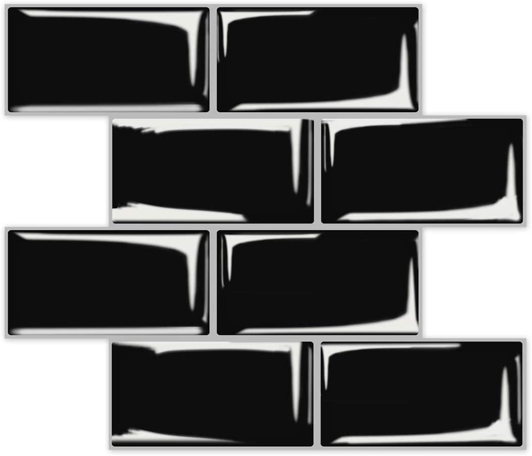 A17725-Art3d Subway Tiles Peel and Stick Backsplash, Stick on Tiles Kitchen Backsplash (10 Tiles, Thicker Version)