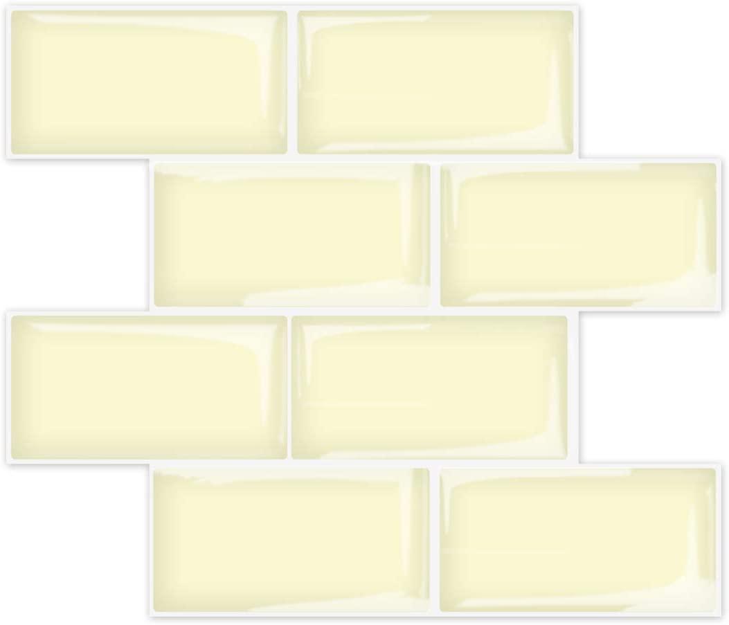 A17728-Art3d Subway Tiles Peel and Stick Backsplash, Stick on Tiles Kitchen Backsplash (10 Tiles, Thicker Version)