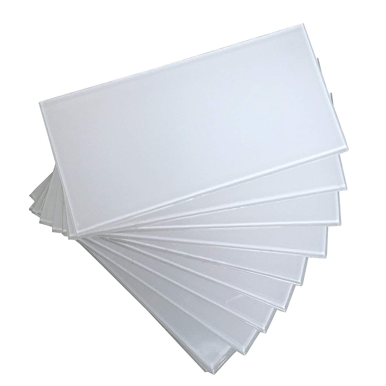 A16321 - 40-Piece Peel and Stick Backsplash Glass Tile for Kitchen or Bathroom, 3