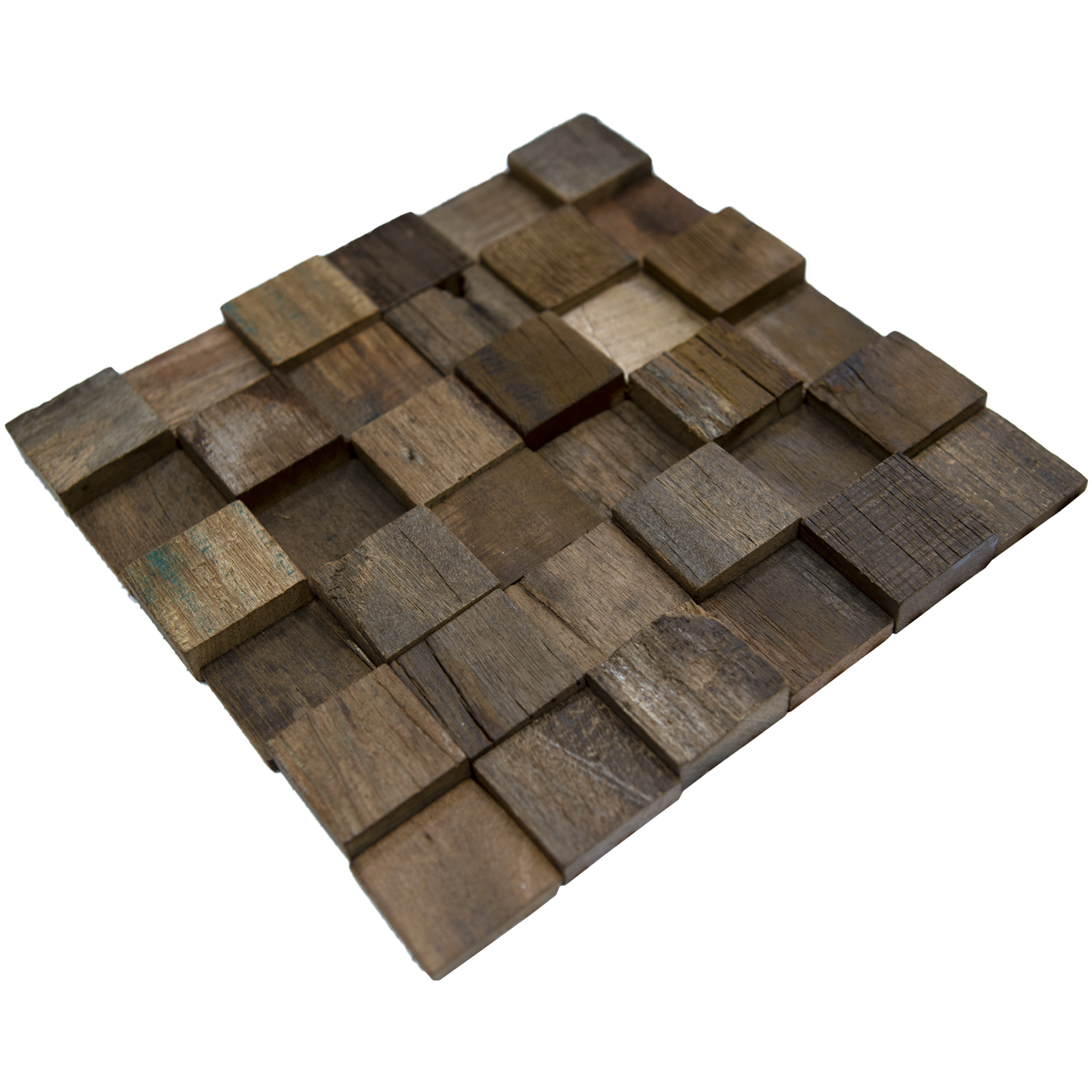 A15017 - Reclaimed Wood Wall Tile Ancient Boat Wood Panels, Set of 11