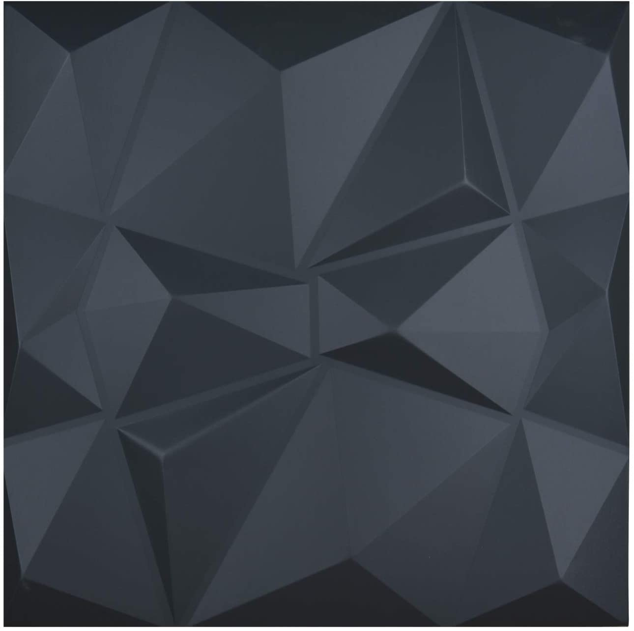A12634 - Leather 3D Textured Wall Covering PU Material Panels Wave Wall 23.6x23.6 In (1 Piece)