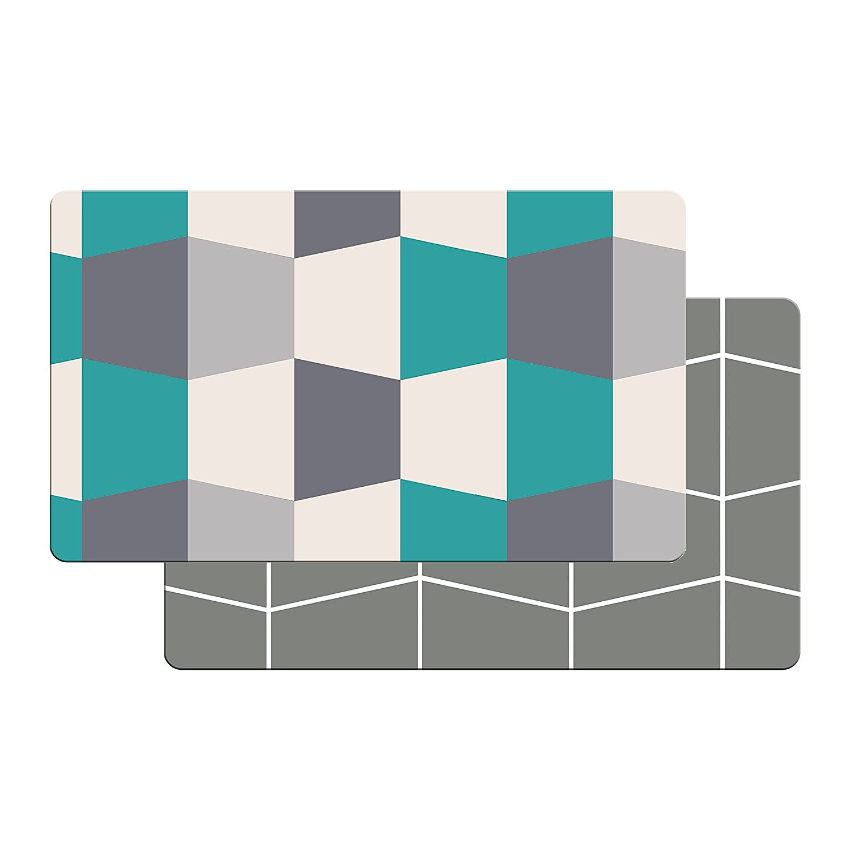 art3d premium reversible cushion kitchen mat anti fatigue kitchen comfort mat standing floor mat 18 - Anti Fatigue Kitchen Mat