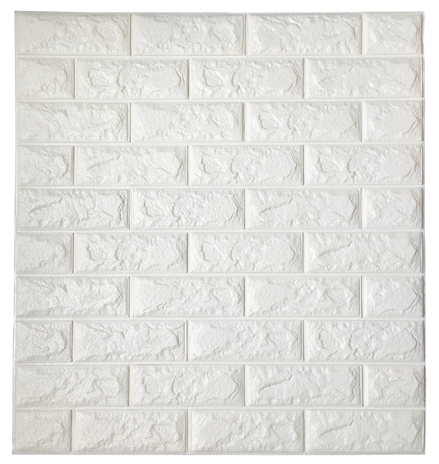 Peel stick 3d wall panels white 3d brick wallpaper 2 6 for 3d brick wall covering