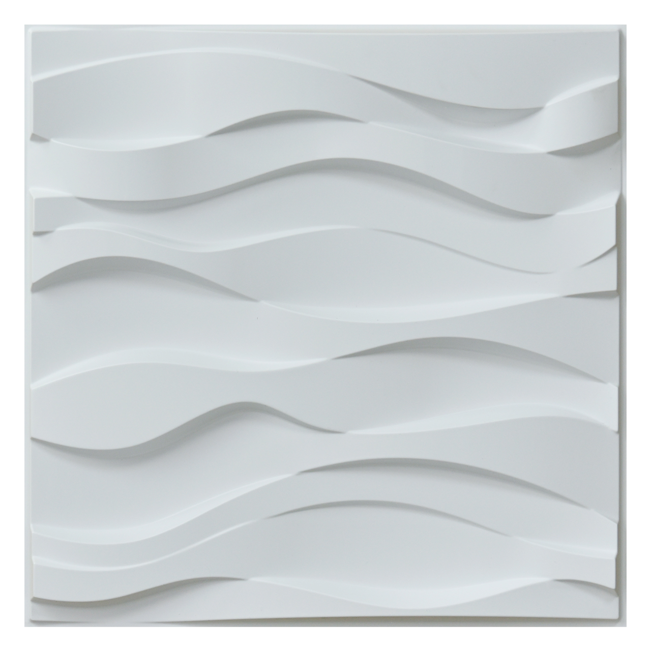 3D Wall Panel PVC Wave Wall Design, White, 12 Tiles 32 SF