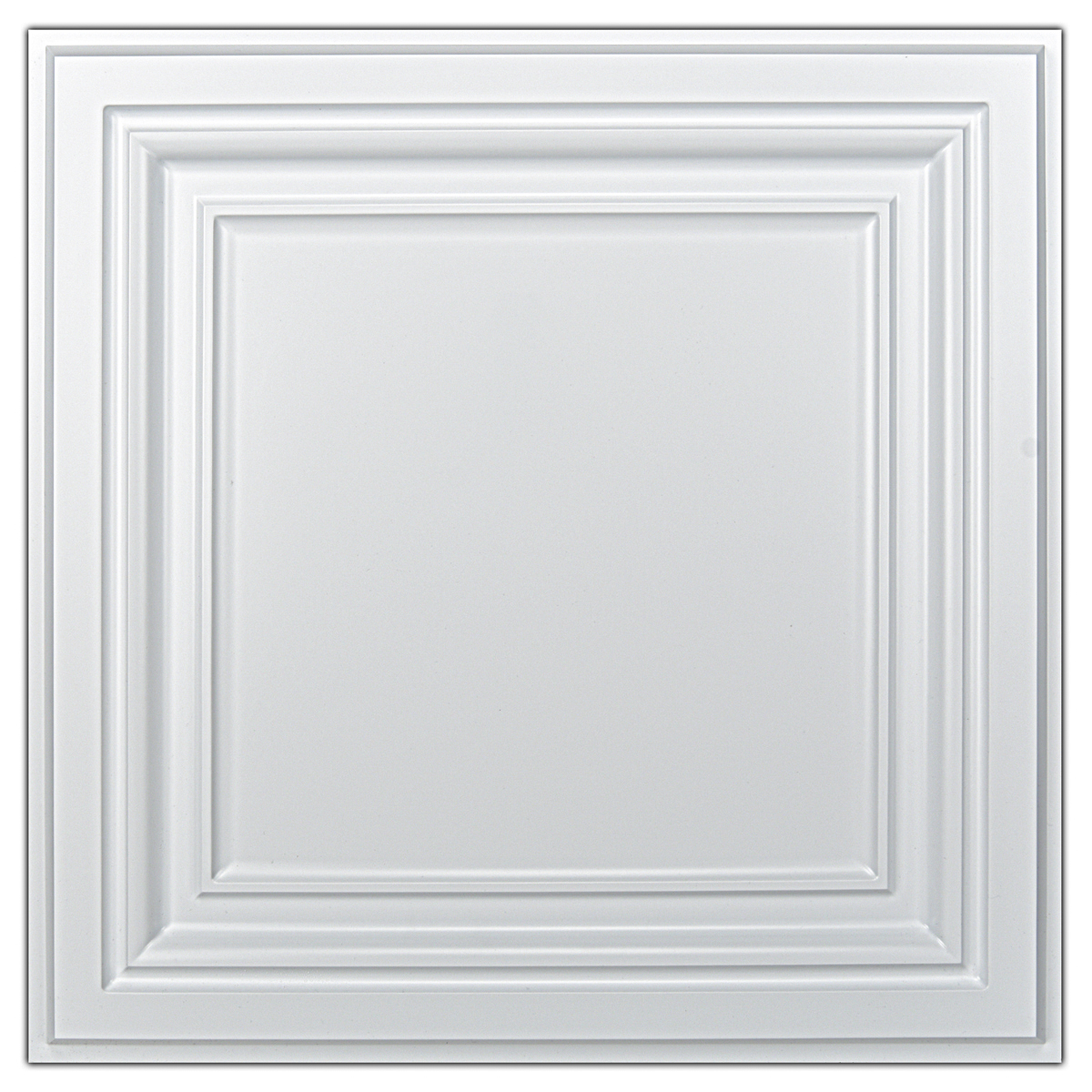 A10905P12 -Decorative Ceiling Tile 2x2 Glue up, Lay in Ceiling Tile 24x24 Pack of 12pcs Spanish in Matt White