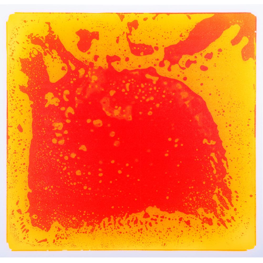 Orange Liquid Floor Tiles 19.7''x19.7'' Ground Tiles for Nightclub Bar Decoration 6-Pieces 16 Sq.Ft Flooring Tiles