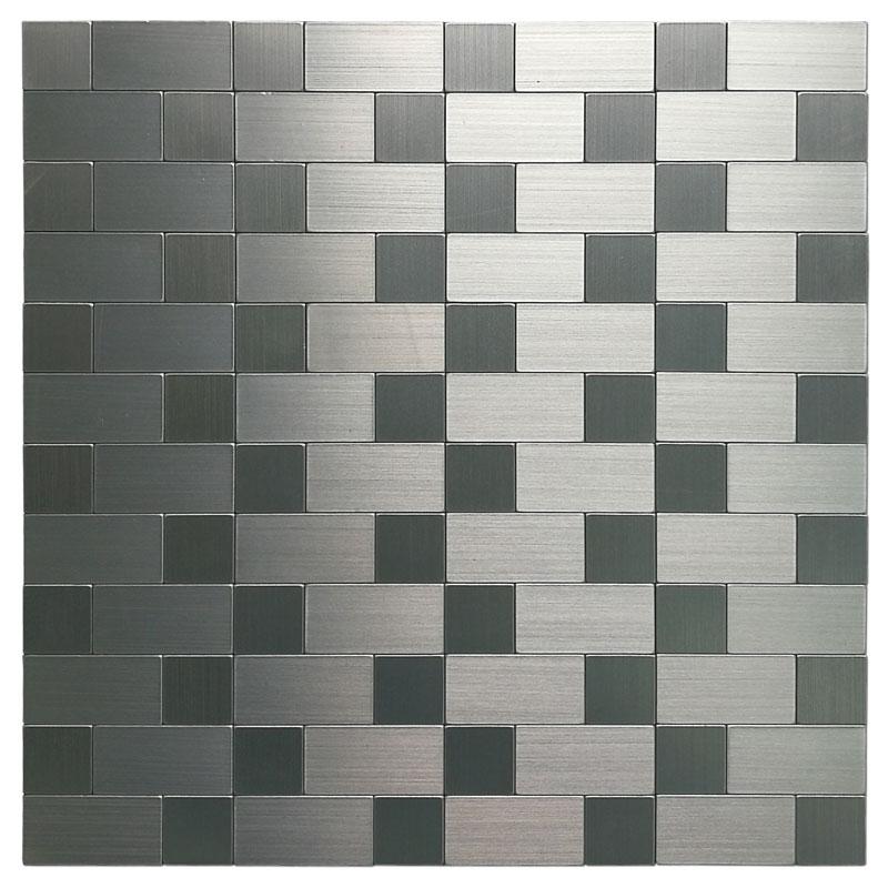 aluminum mosaic tile peel u0026 stick backsplash 97 sqft silver