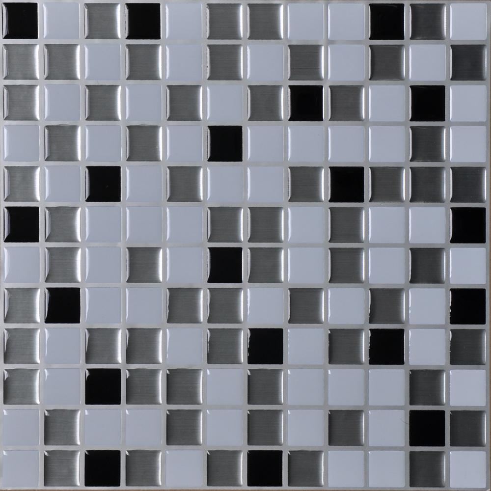 Peel and Stick Wall Tiles Kitchen Backsplash Sticker, Set of 6