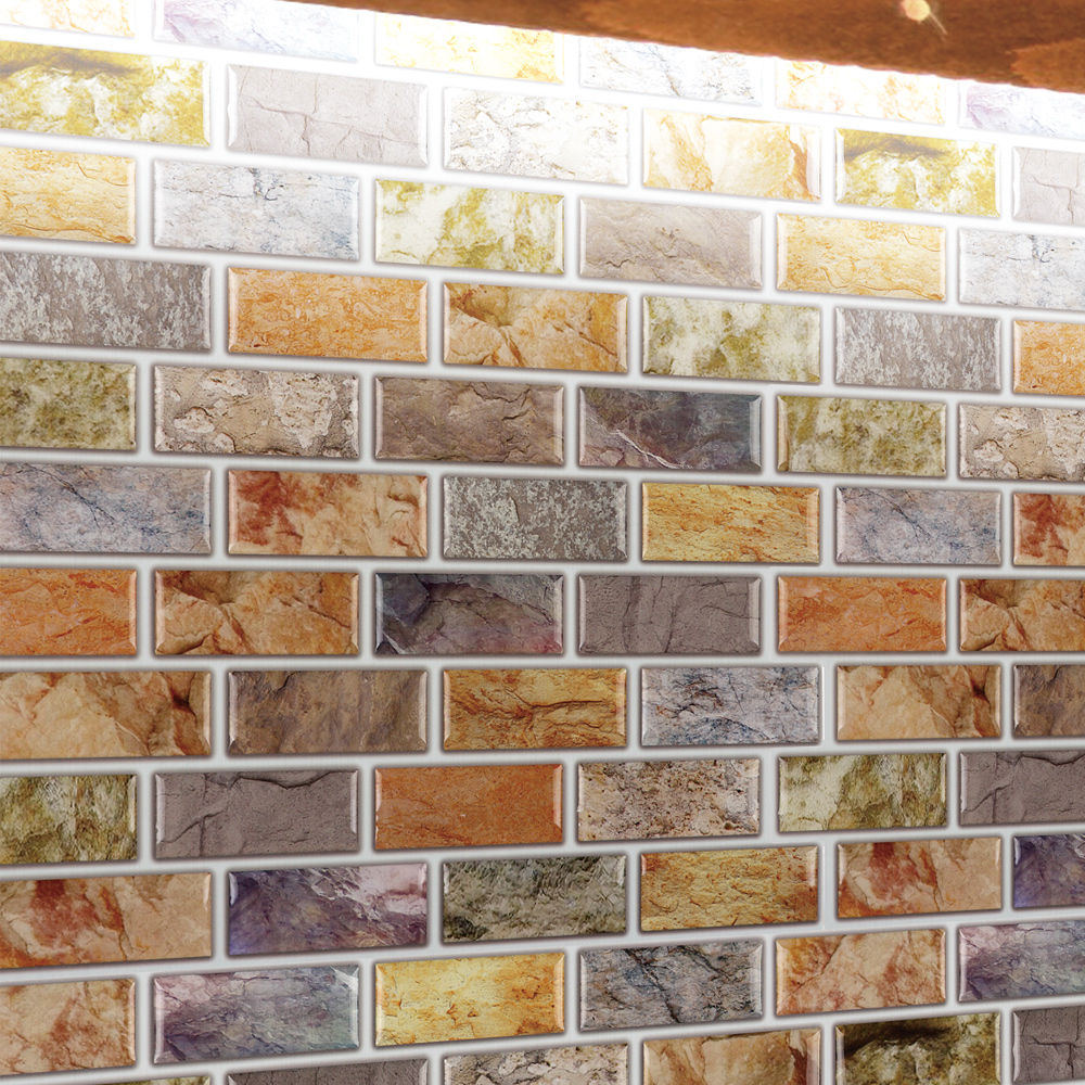 adhesive mosaic tile backsplash color subway 10 pieces peel n
