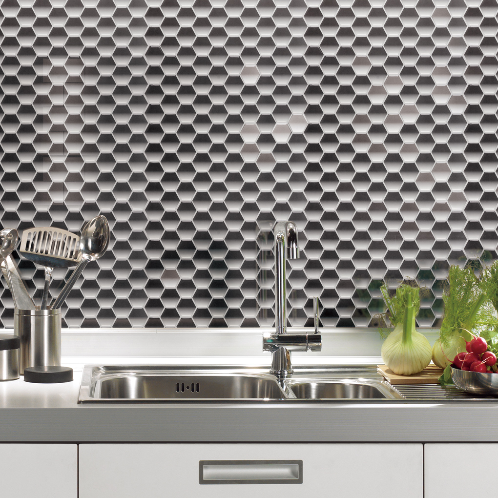 Peel and stick wall tiles bathroom - Vinyl Mosaic Wall Tile Instant Mosaic Peel And Stick