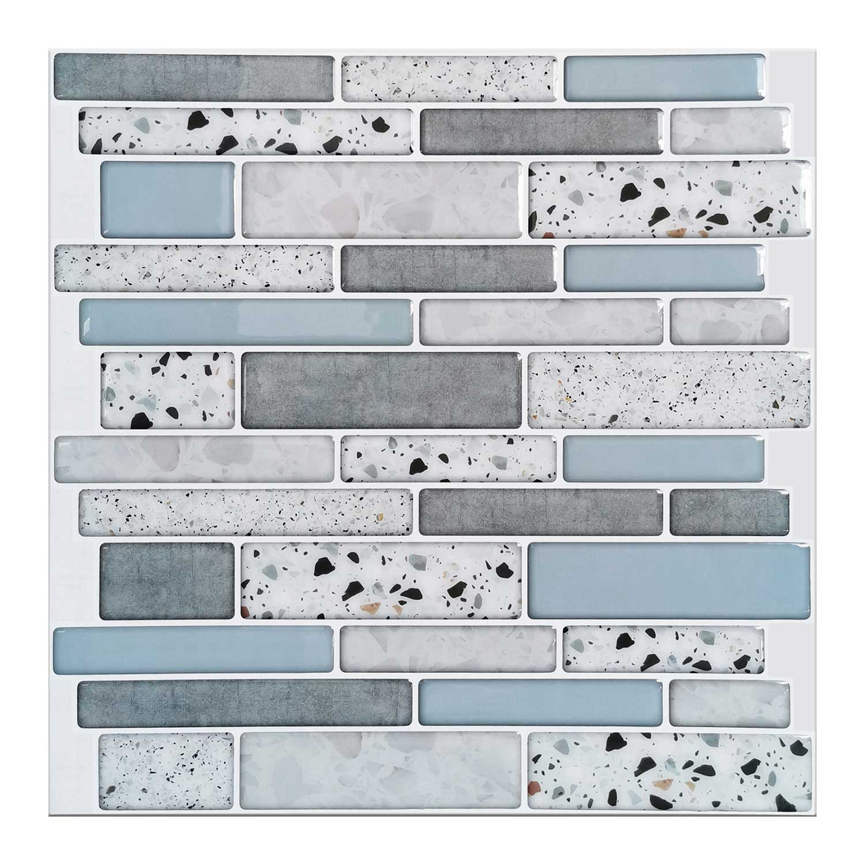 Art3d 10-Sheet Peel and Stick Backsplash Tile for Kitchen in Stone Design