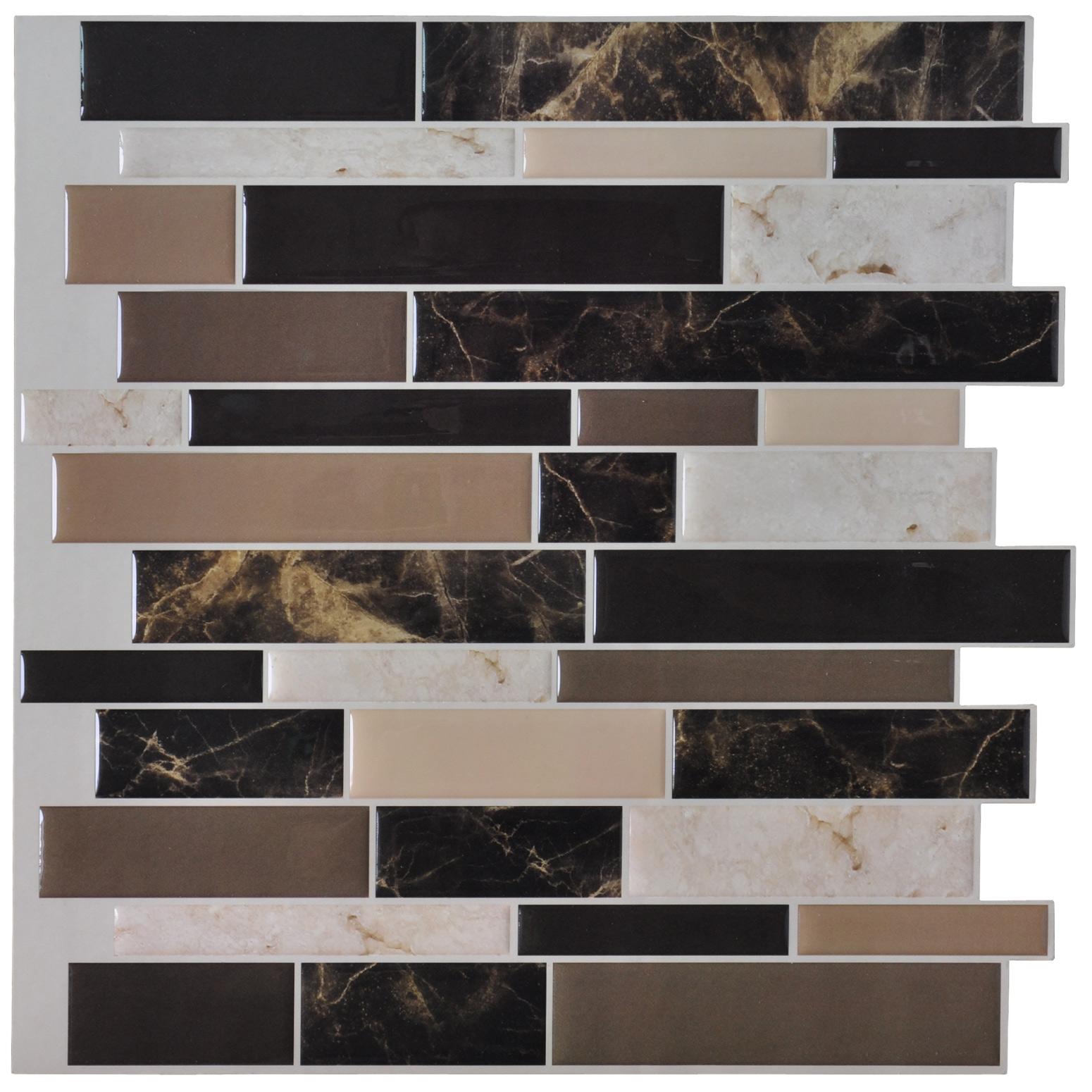 L And Stick Wall Tile Kitchen Backsplash Gray Design 12 X12