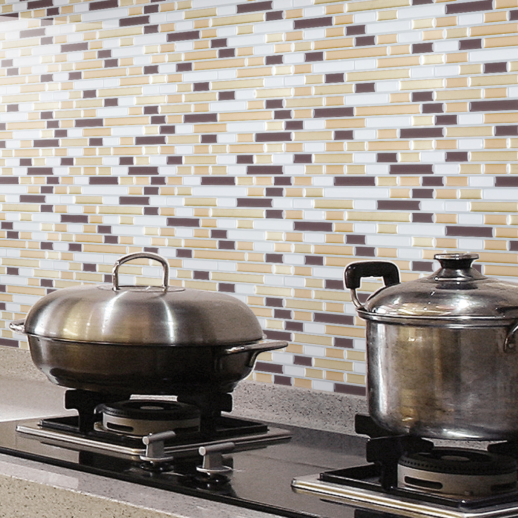 A17031 Peel And Stick Wall Tile Kitchen And Bathroom Backsplashes 10 Pics
