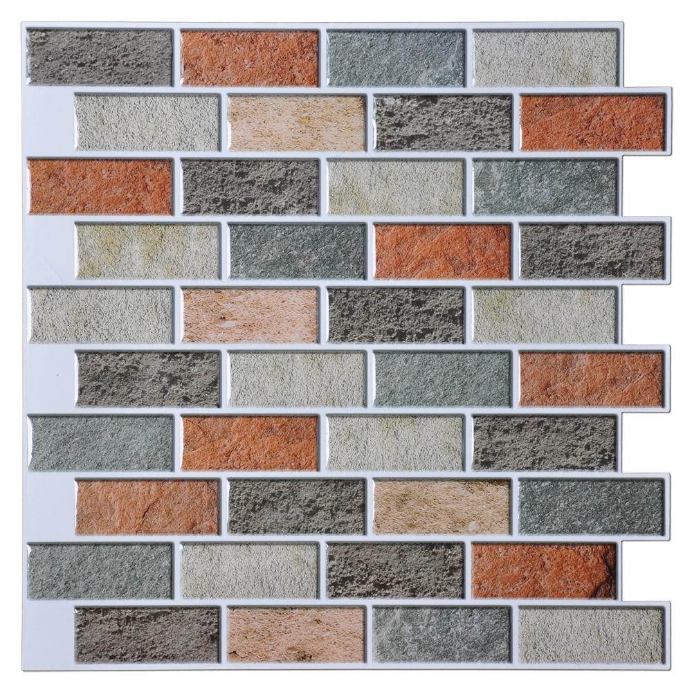 A17033 Adhesive Mosaic Tile Backsplash Peal And Stick Kitchen Backsplash