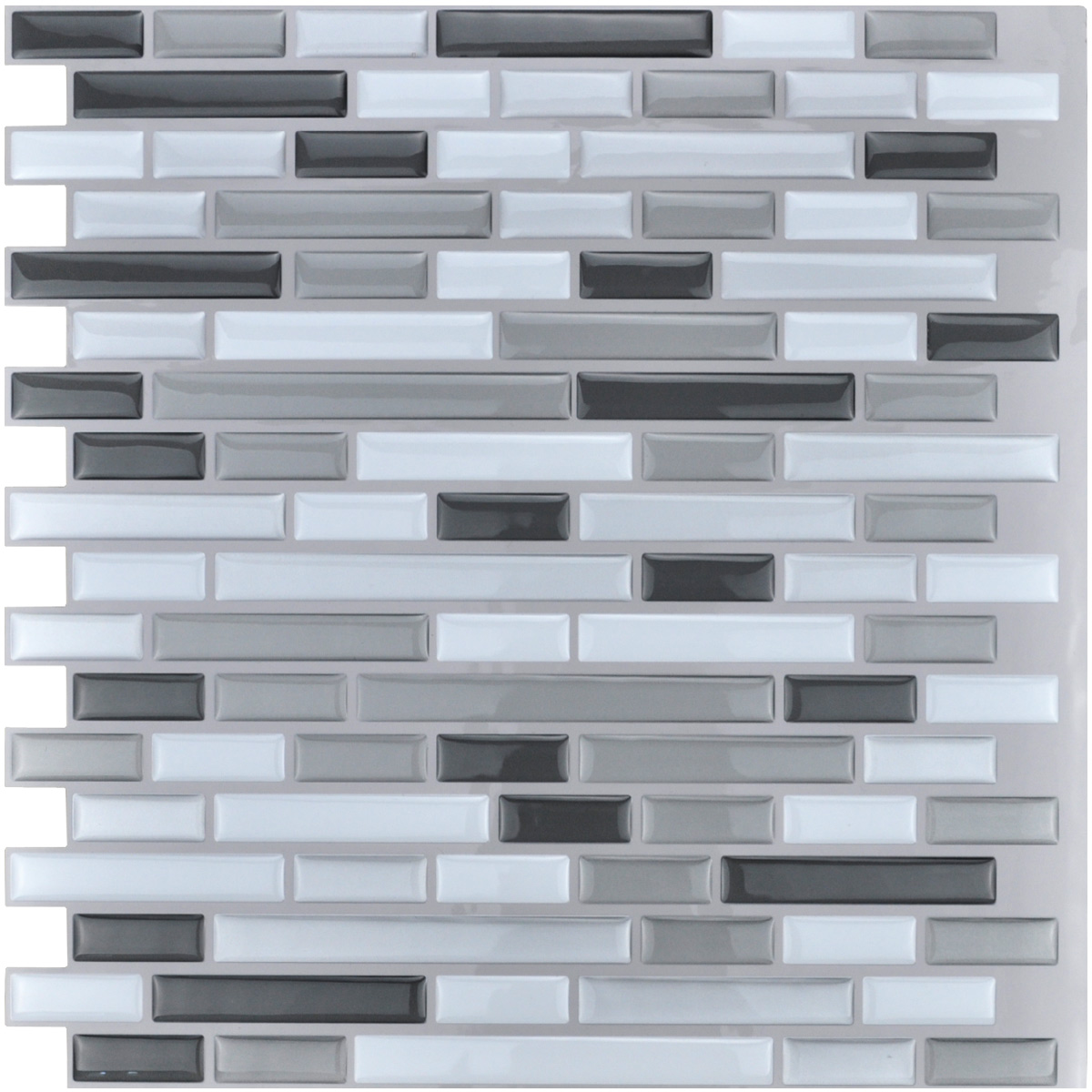 Peel and Stick Kitchen Backsplash Wall Tile, 12\