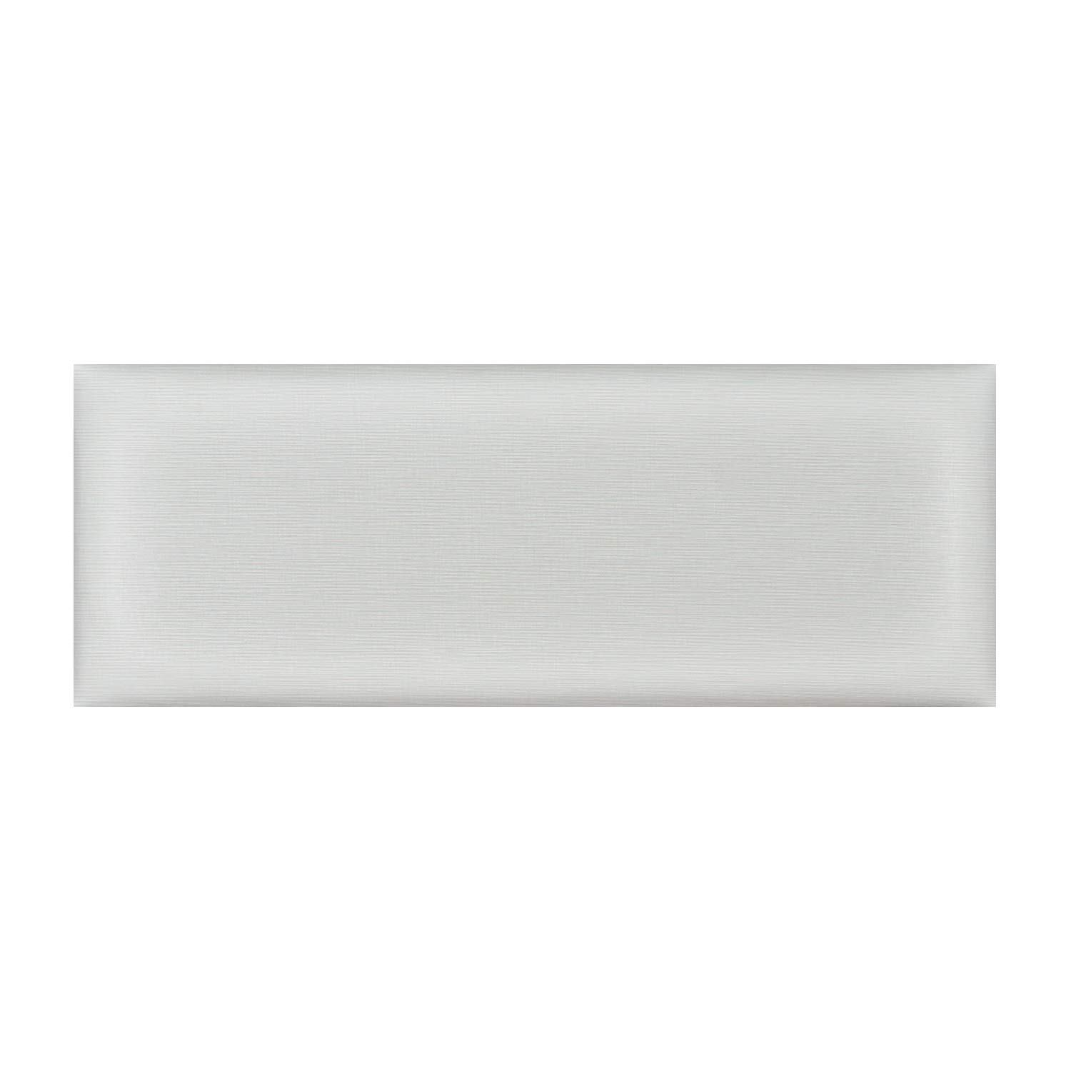 Upholstered Headboard King - Set of 8 panels Removable Accent Leather Wall Panels - White 39.4