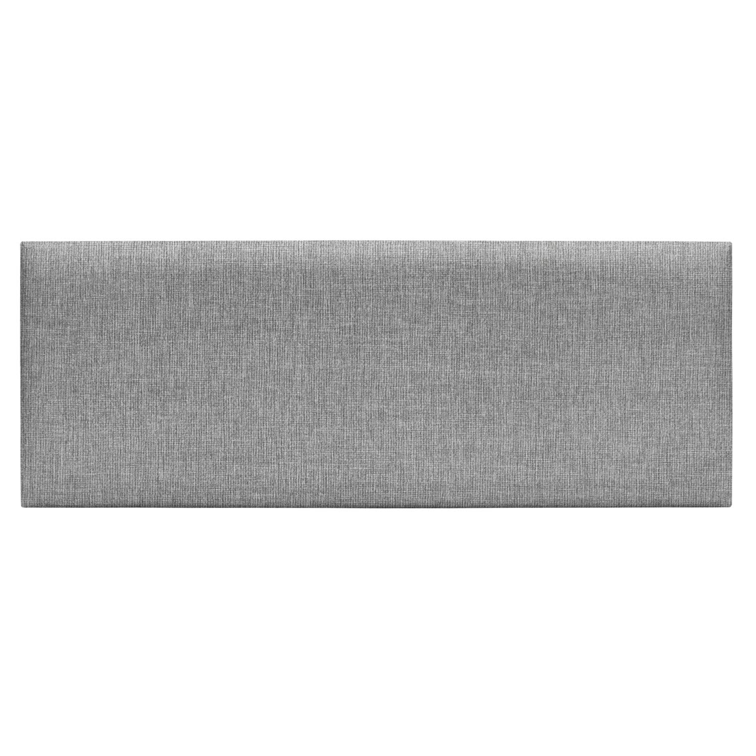 Upholstered Headboard Queen - Set of 8 panels Removable Accent Leather Wall Panels - Gray 31.5