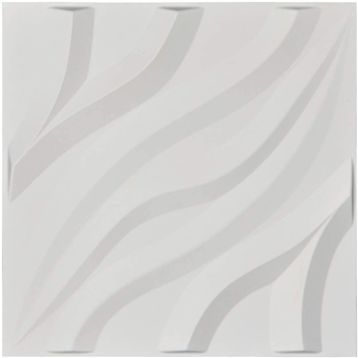 A21083 - Decorative 3D Wavy Wall Panels, 19.7