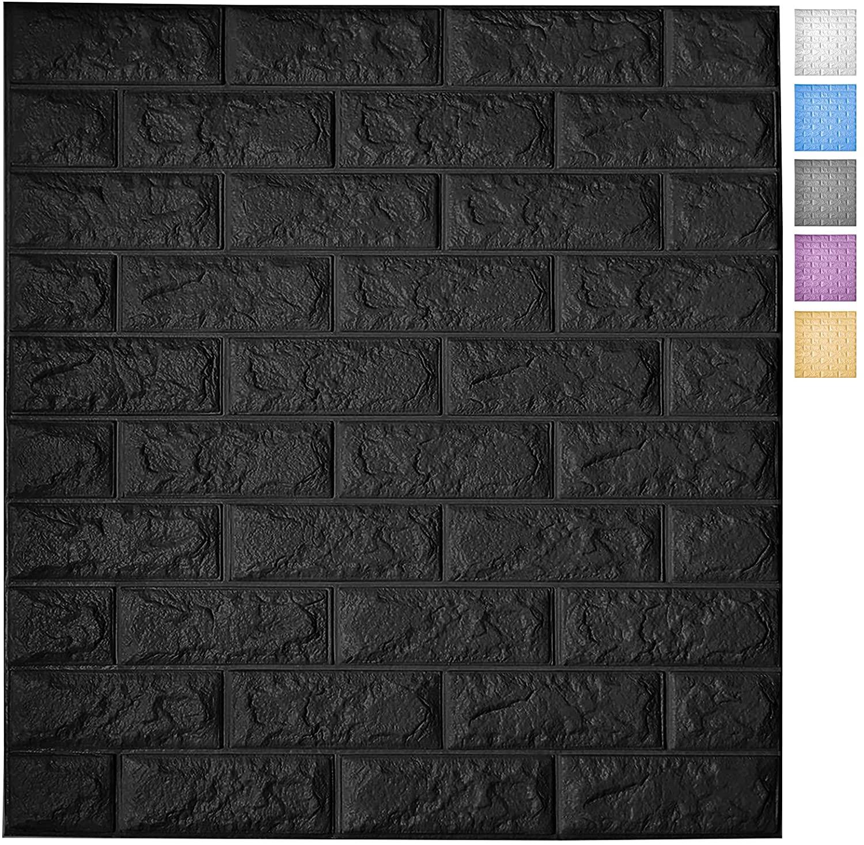 A06004-Peel and Stick 3D Wall Panels for Interior Wall Decor, Self-Adhesive Foam Brick Wallpaper