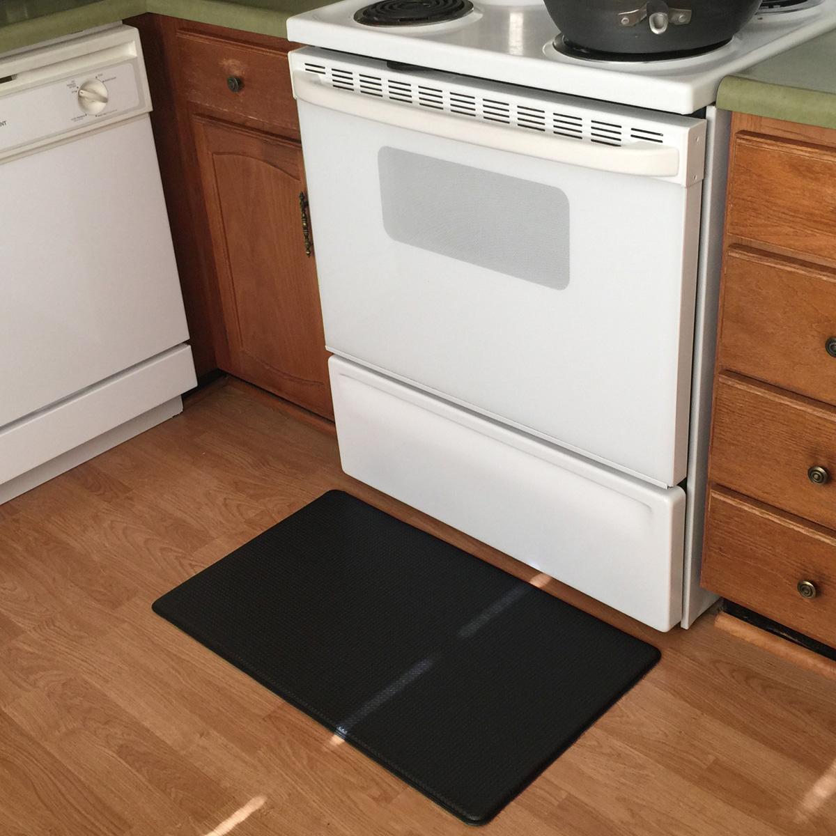 feet estates wellnessmats of moire x fatigue mat kitchen blue rugs mats anti shades