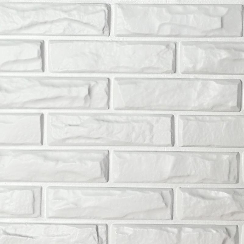 PVC 3D Wall Panels White Brick Tiles 197 X 12 Pack