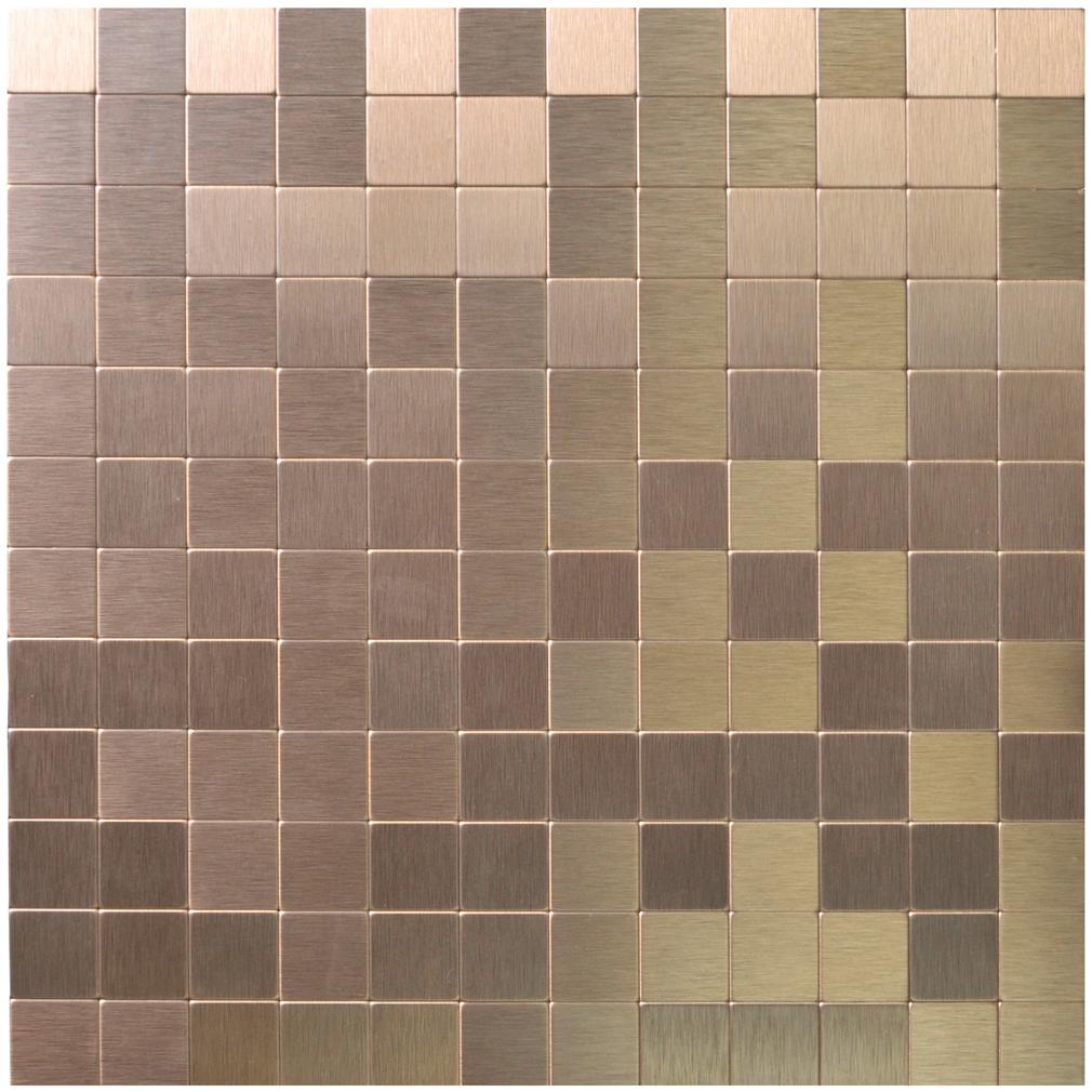 peel u0026 stick metal tiles for kitchen backsplashes copper brushed