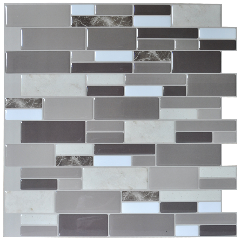 Peel N Stick Tile Backsplash Bathroom Wall Tiles 6 Sheet Covers 5.8 Sq.Ft Part 50