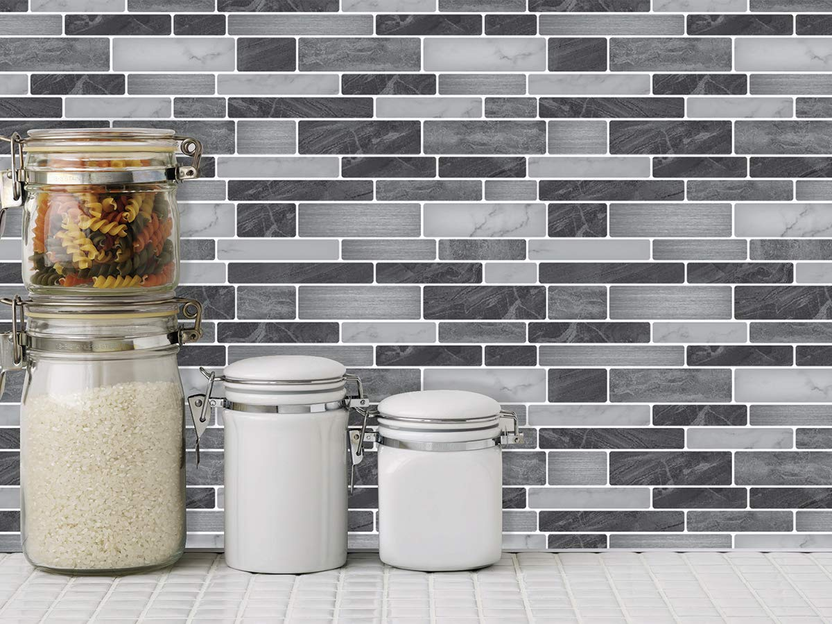 Art3d 10-Sheet Self-Adhesive Tile Backsplash for Kitchen ...