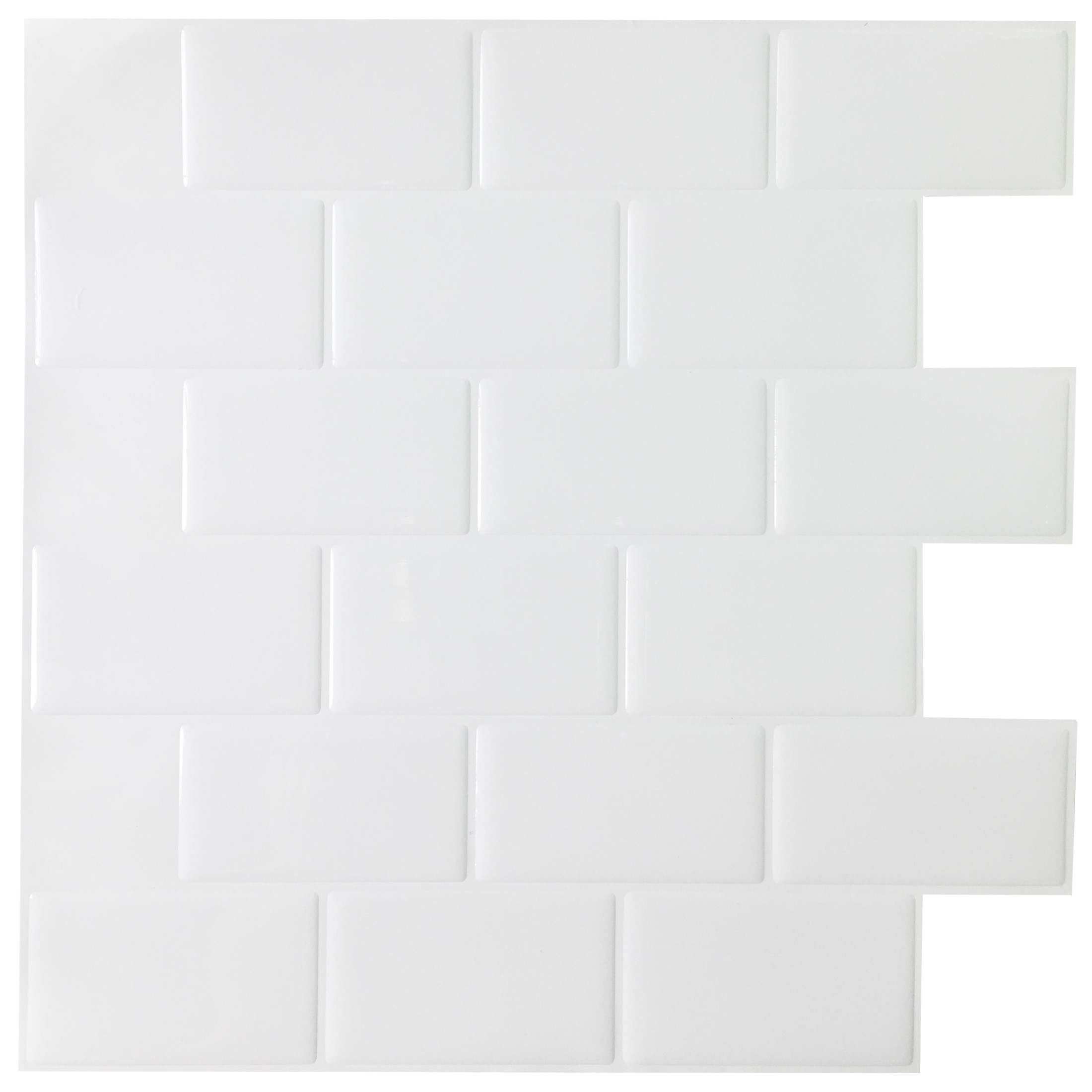 A17000 - Kitchen Backsplash Tile Peel and Stick Subway Backsplash,  12