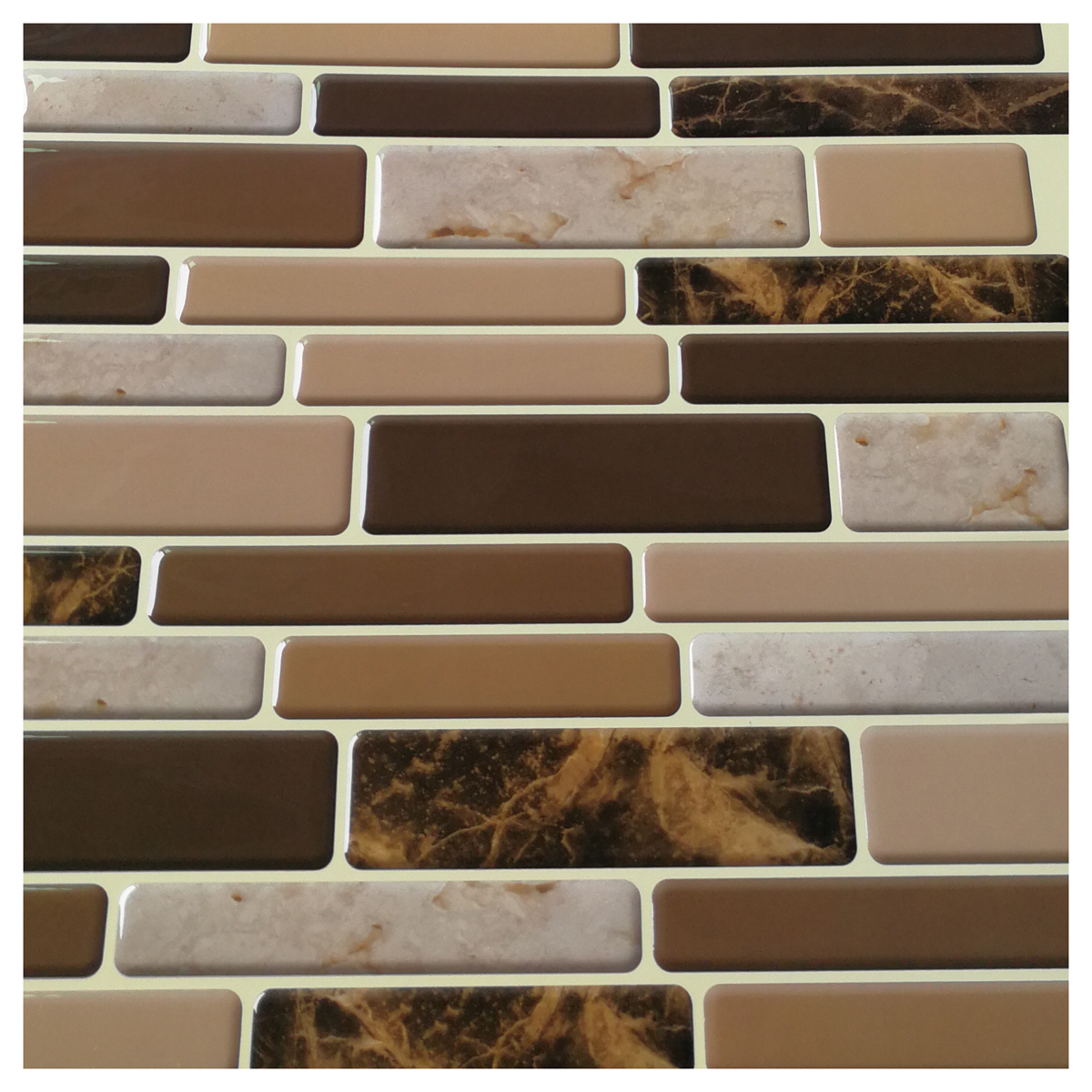 Premium Anti Mold Peel And Stick Wall Tile Marble Style