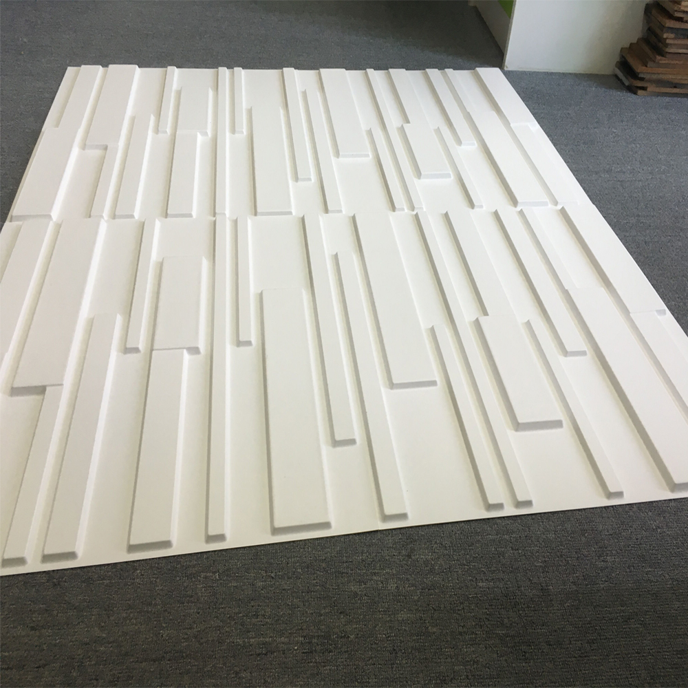 Decorative pvc white brick design 3d wall panels 12 tiles - Panneau mural decoratif ...