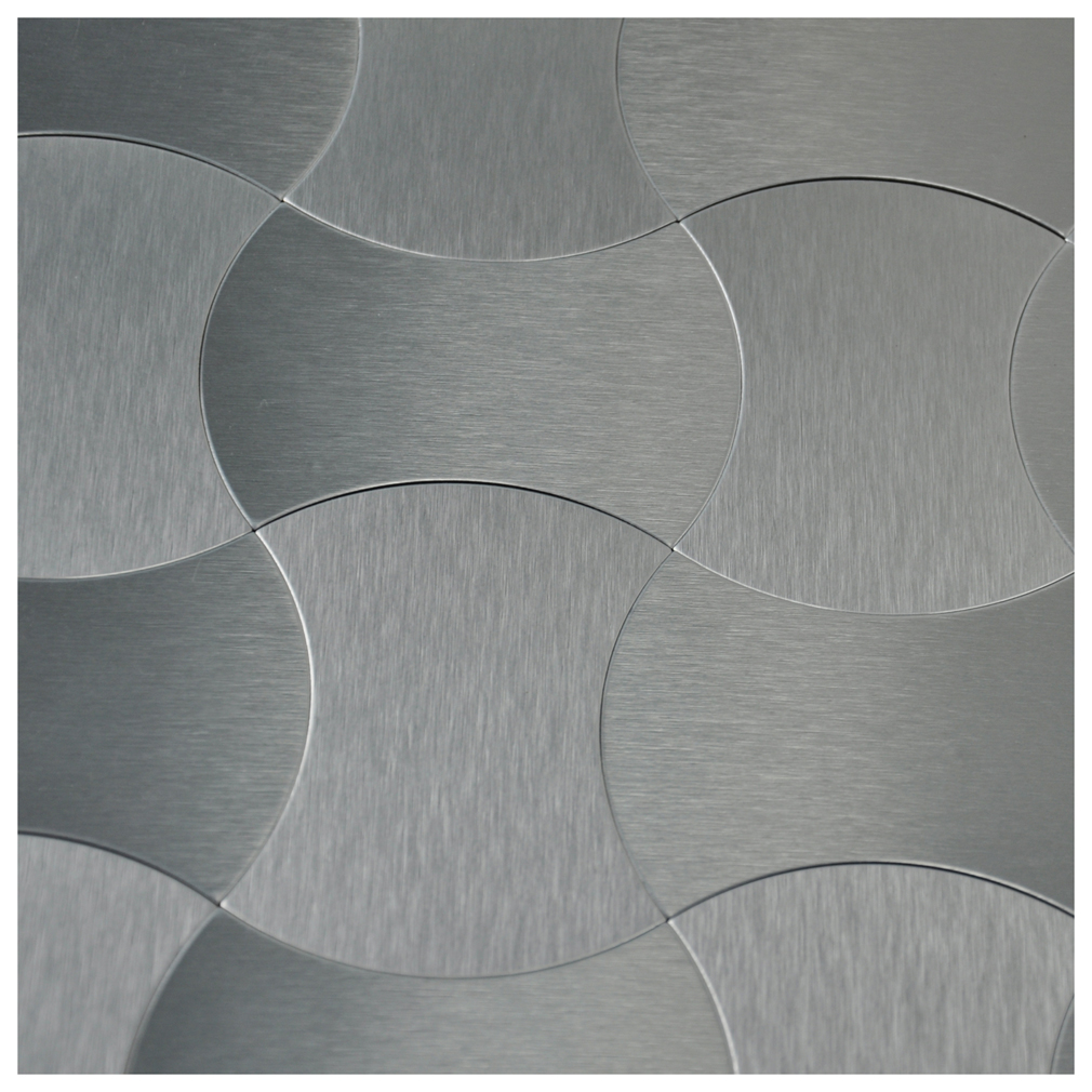 Accent Tile Thinner Than Wall Tile: Peel & Stick Metal Decorative Wall Tile, Silver Weaver