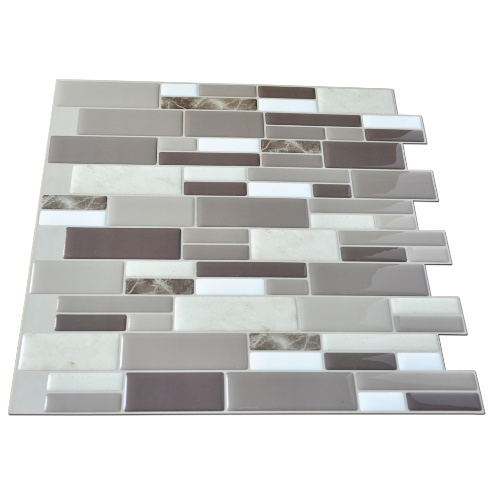 Peel & Stick Kitchen Backsplash Wall Tiles, 12in x 12in Set of 6