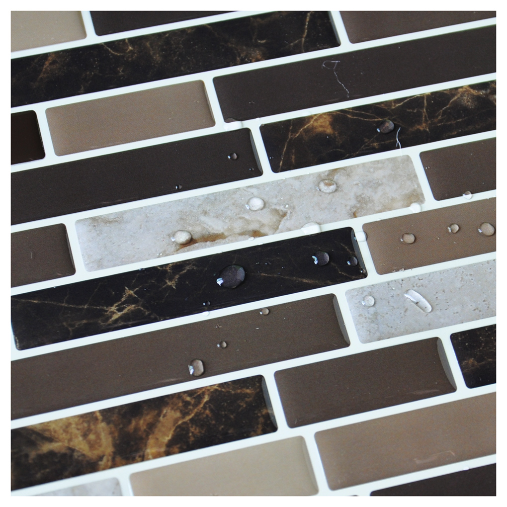 Self adhesive kitchen backsplash tiles