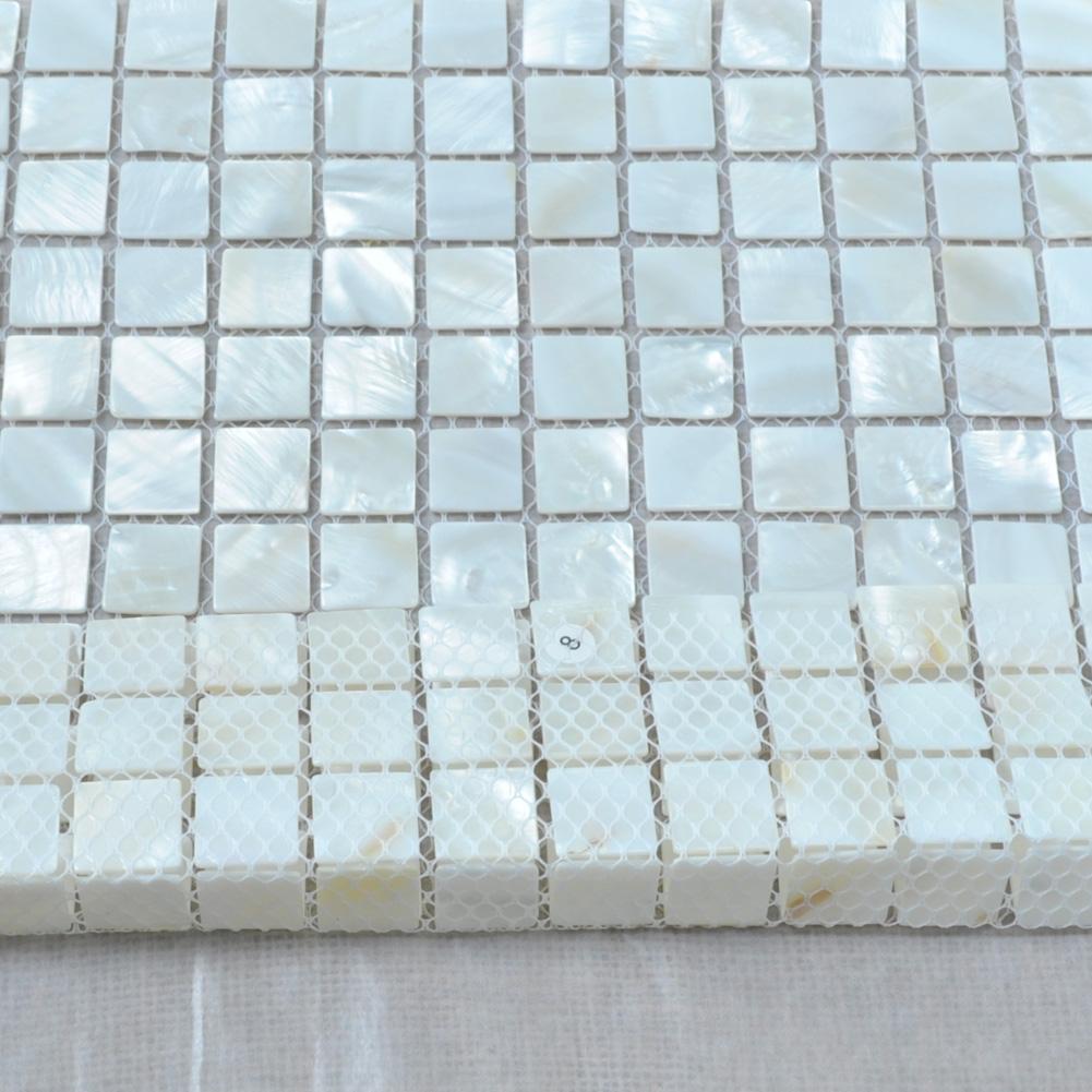 """Oyster Mother of Pearl Tile for Kitchen Backsplash, 12""""x12\"""
