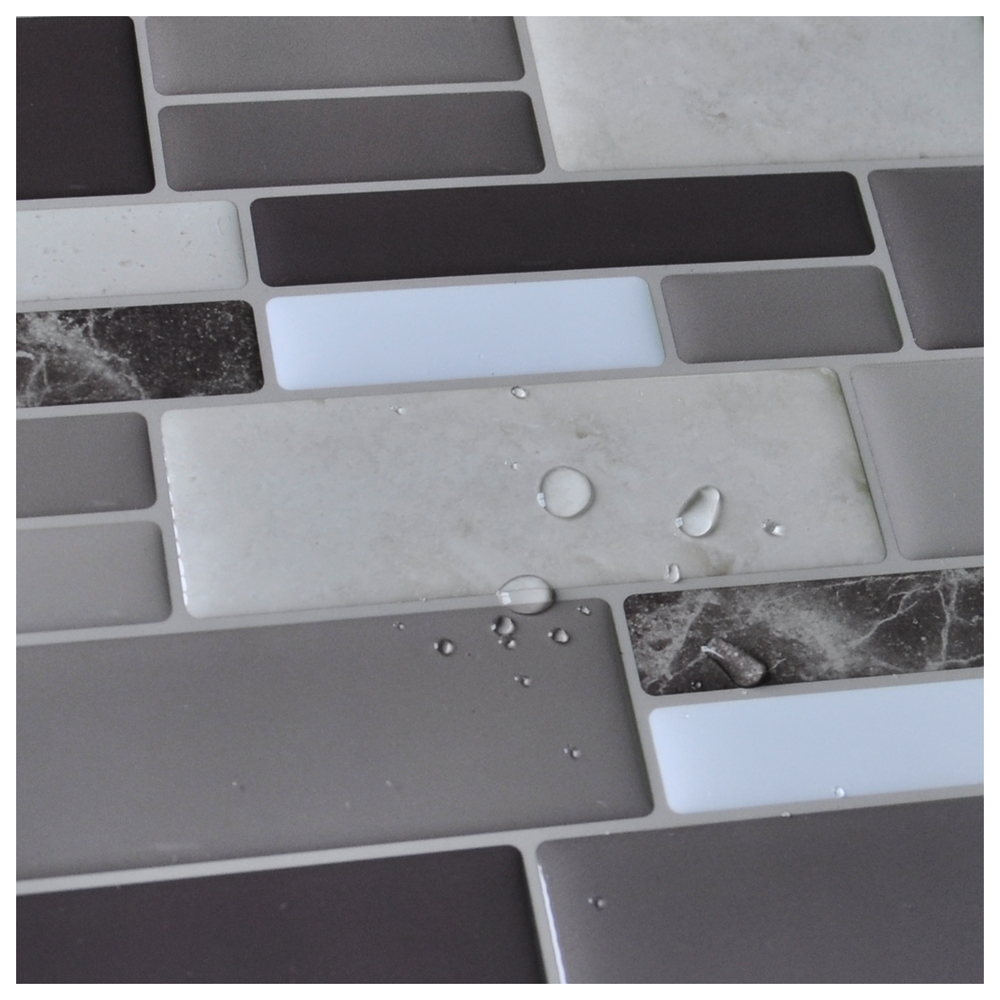 peel n stick tile backsplash bathroom wall tiles 6 sheet covers 9 5 sq