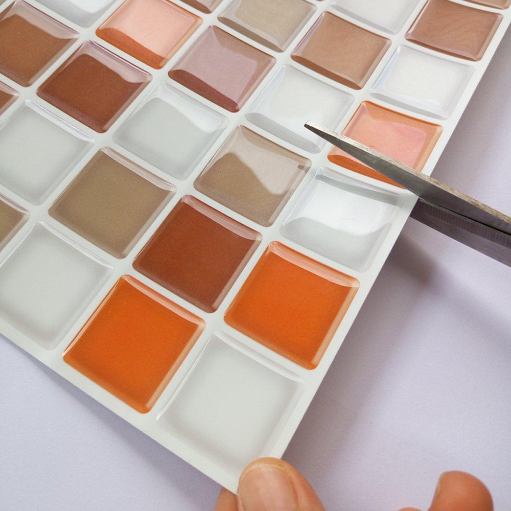 Self Adhesive Kitchen Backsplash Tile 12 39 39 X 12 39 39 Set Of 6