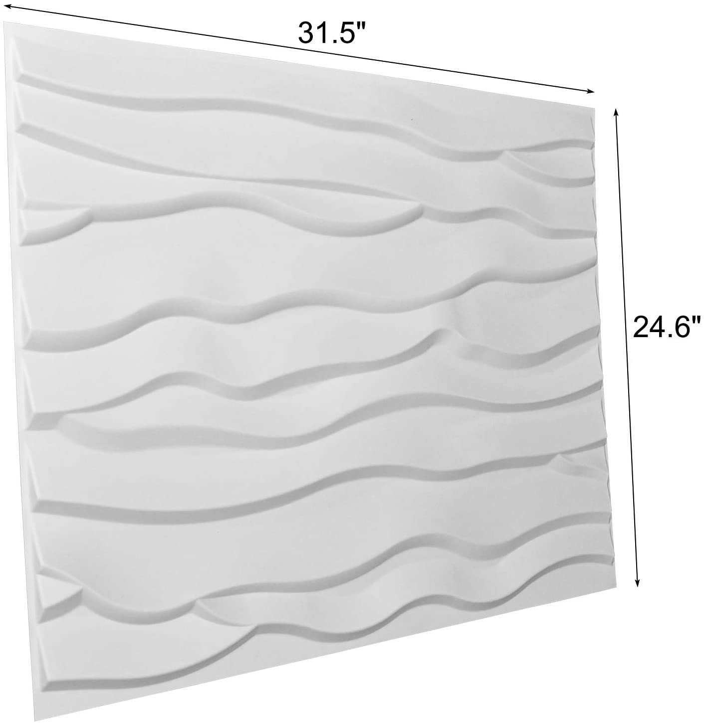 A21059 - 3D Textured Wainscoting 3D Wall Panels Off-white (Set of 6) 32 Sq.Ft
