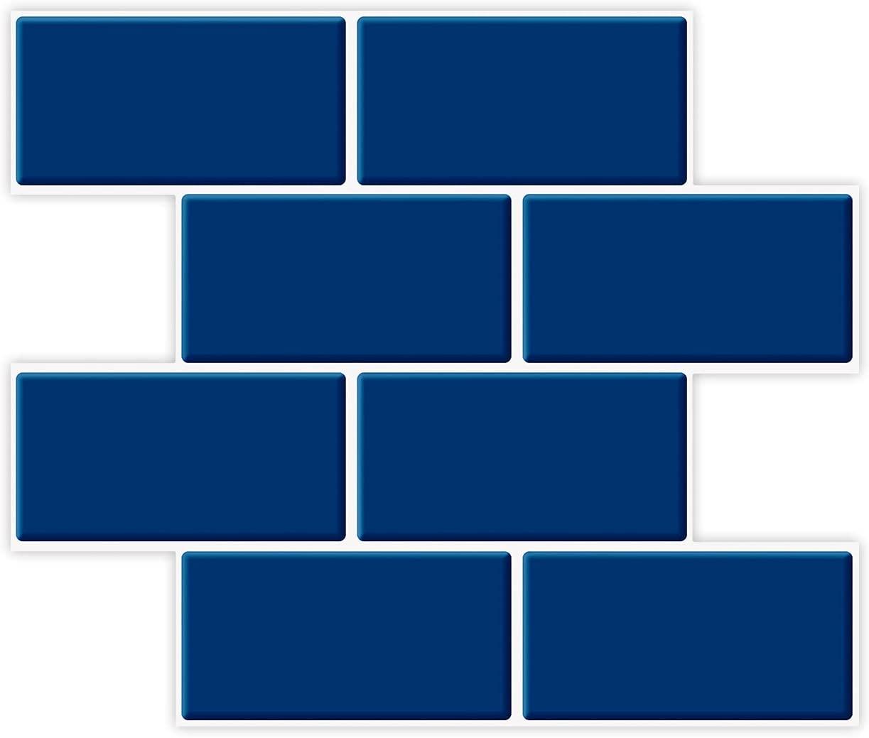 A17727-Art3d Subway Tiles Peel and Stick Backsplash, Stick on Tiles Kitchen Backsplash (10 Tiles, Thicker Version)