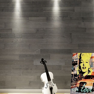 A15402 -  Art3d Reclaimed Wood Wall Panels Easy Peel and Stick Wood Plank, Dark Grey (16 Sq Ft)