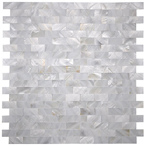 White MOP Shell Mosaic Tile for Kitchen Backsplashes, Set of 6