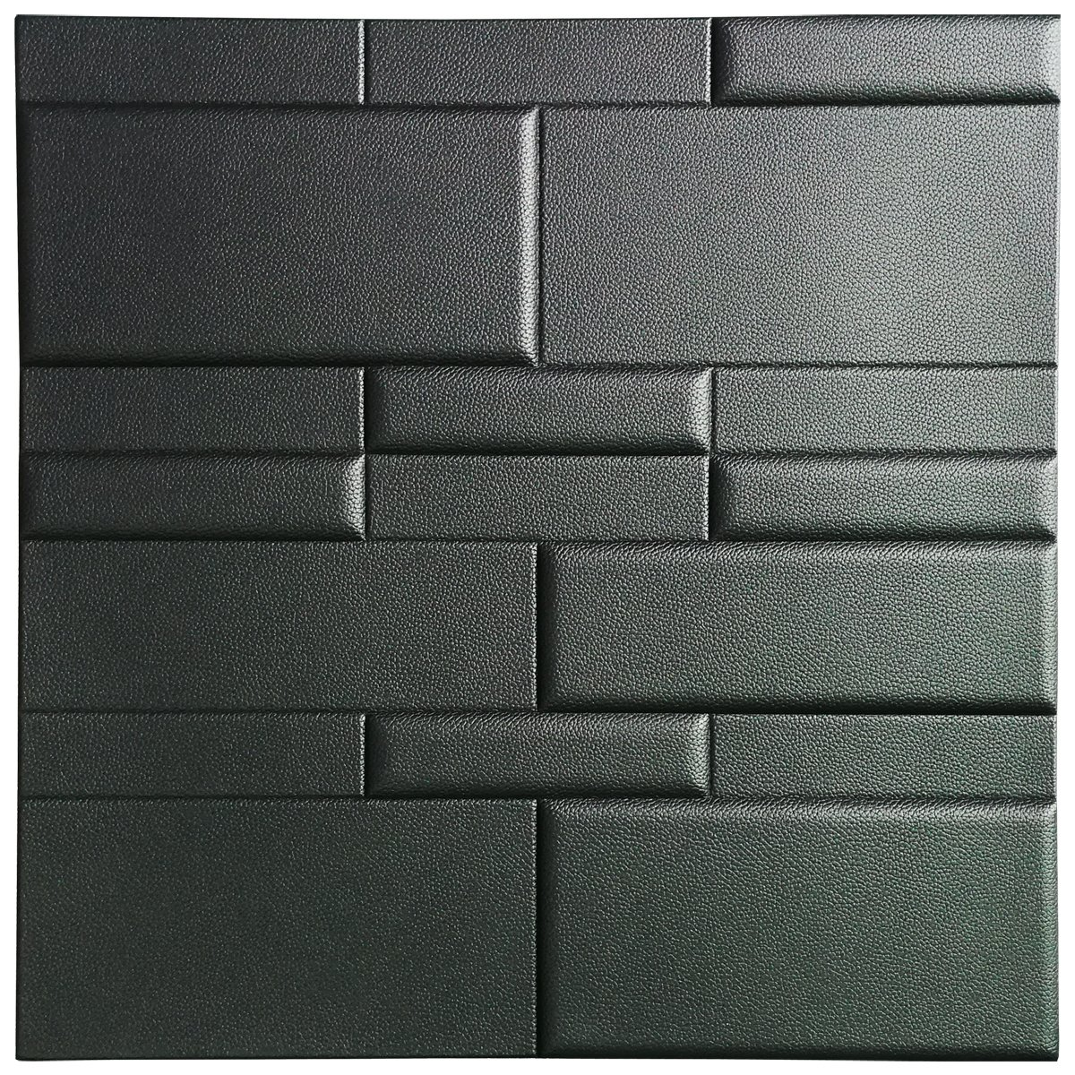 A12033 - Leather 3D Textured Wall Covering PU Material Panels Wave Wall 23.6x23.6 In (1 Piece)