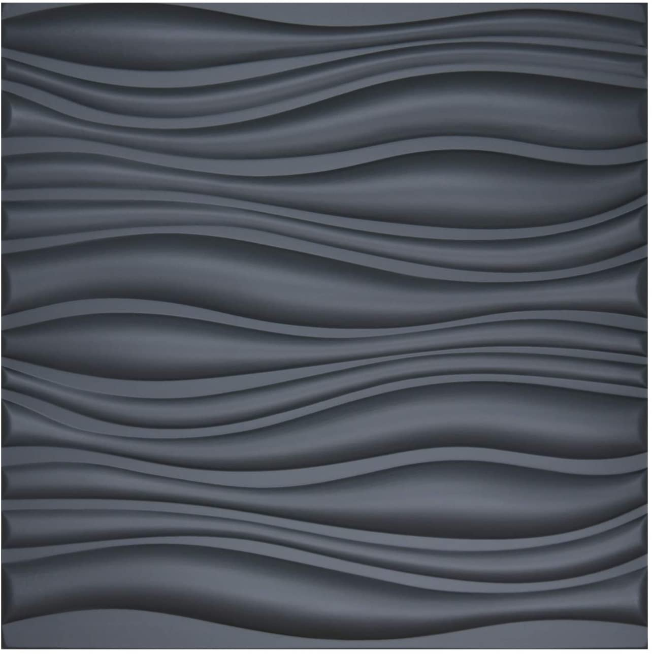 A12064- Leather 3D Textured Wall Covering PU Material Panels Wave Wall 23.6x23.6 In (1 Piece)