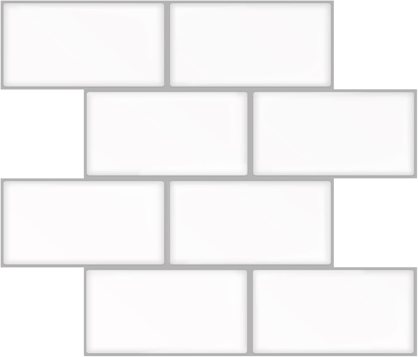 A17702-Art3d Subway Tiles Peel and Stick Backsplash, Stick on Tiles Kitchen Backsplash (10 Tiles, Thicker Version)